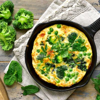 Souflé de verduras con Vita Queso Holandés